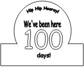 100th day of school crown template - circle time ideas for 100 days