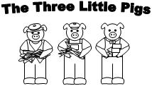 Three little pigs characters printable - photo#22