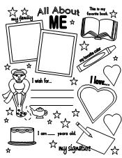 photo relating to All About Me Poster Printable identify Entertaining Discovering Printables for Young children
