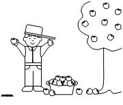 jonny appleseed coloring pages - photo#20