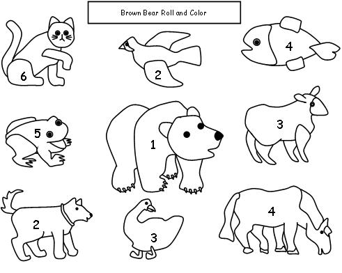 Inventive image in brown bear brown bear printable books