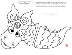 dragon puppet for chinese new year learning printables for kids