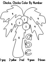 chicka chicka boom boom coloring pages - math ideas for chicka chicka the