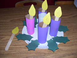 toilet paper roll advent wreath sweet ones advent 2014 week 1 7254