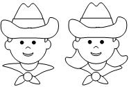 cowboy color by number pages more to choose from - Cowboy Cowgirl Coloring Pages