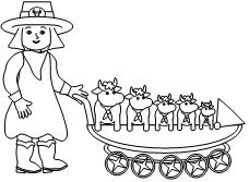 cowgirl princess coloring pages - photo#40