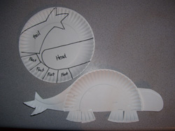 To make the paper plate dinosaurs print the patterns. Trace them onto the paper plates as shown in the photos. For the ankylosaurus you will also need 1/2 ... & Dinosaurs Made From Paper Plates