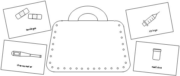 kids coloring pages doctor kit - photo#20