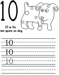 Number Printing Practice For Dogs Colorful Day Print The Pages Of You Choice Have Children Writing Numbers