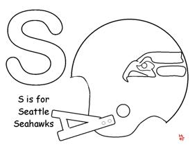learning printables for kids seattle seahawks - Seahawks Coloring Pages Printable