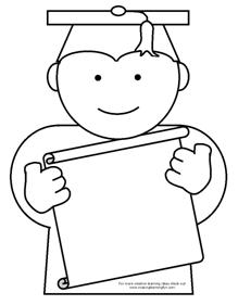coloring pages for preschool graduation - photo#16