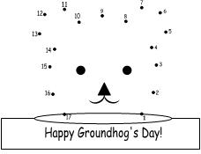 Worksheets Connect The Dots 1 To 17 ground hog number dot to pag pages