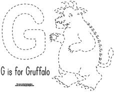 trace and color pages for the gruffalo learning printables for kids - Gruffalo Colouring Pages To Print