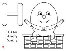 bingo marker pages for humpty dumpty