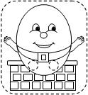 Making learning fun printables for Humpty dumpty puzzle template