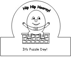 Humpty puzzle day crown why not for Humpty dumpty puzzle template