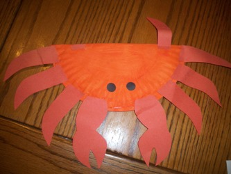 learning printables for kids. Crab Paper Plate Shaker & Fun Learning Printables for Kids