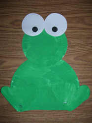 & Sitting Frog Paper Plate Project