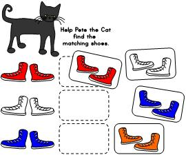math ideas for pete the cat
