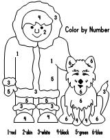 Sled Dog Color By Number