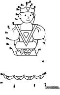 100 day activities all about me queen of hearts 1 25 dot to dot page altavistaventures Image collections