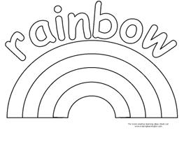 bingo marker and coloring pages - Rainbow Coloring Pages For Kids Printable