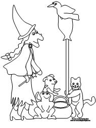 Making Learning Fun Room On The Broom Coloring Pages