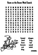 RoomontheBroom WordSearch on The Wild West Activities Crafts And Printables