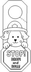 It is an image of Old Fashioned Stop Drop And Roll Coloring Page