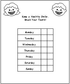 picture regarding Printable Tooth Brushing Charts named Teeth Brushing Chart Print upon