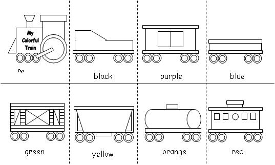 coloring pages trains preschoolers crafts - photo#12
