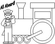 Free Kids Coloring Pages: choo choo train coloring page