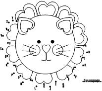 This is a picture of Critical Valentine Lion Coloring Page