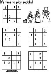 Making Learning Fun Wizard Of Oz 4x4 Sudoku