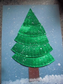 christmas tree plate project learning printables for kids - How To Make A Paper Christmas Tree